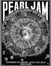 Pearl Jam Poster London 02 Night 1 2018