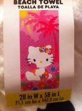 "Hello Kitty Beach Towel 28"" by 58"".  100% Cotton"