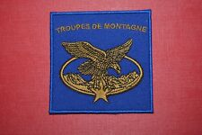 insigne militaire patch armée écusson Troupes de Montagne Chasseurs Alpins