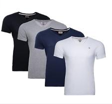 Tommy Hilfiger Herren T-Shirt V-Neck Basic Kurzarm Shirts M-L