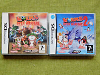Worms Open Warfare 1 / 2 (Nintendo DS, NDS, Region Free, Game, Complete)