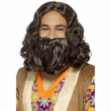 Perruques, barbes et moustaches marrons noël pour déguisement et costume
