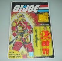 *RECARDED* 1984 GI Joe Blowtorch Figure Complete Sealed *CUSTOM File Card Back*