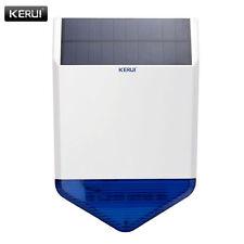 KERUI Wireless Outdoor Solar flashing light siren For GSM security Alarm System