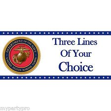 MARINES CUSTOM BANNER Party Supplies FREE SHIPPING
