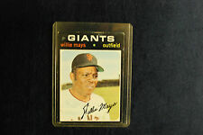 1971 Topps #600 Willie Mays San Francisco Giants Outfield