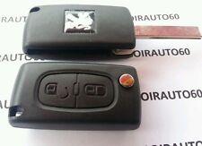 Coque cle Plip Télécommande car key clef pour Peugeot 207*307*308*407* CE0536