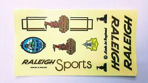 Vintage ITALIC RALEIGH SPORTS logo frame transparent stickers set  Bicycle Bike