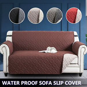 Anti Slip Quilted Sofa Covers Waterproof Dog Pet Protector Reversible Sofa Throw