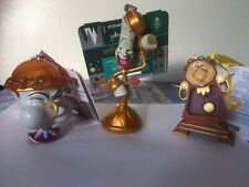 More details for disney lumiere light up cogsworth & chip sketchbook ornaments beauty & the beas