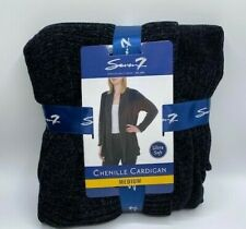 Seven7 Women's Chenille Cardigan Black Size Medium