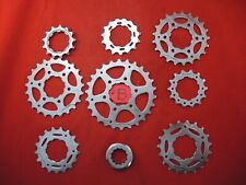 CAMPAGNOLO 8 SPEED CASSETTE COGS / SPROCKETS 13-26T INC LOCKRING - LOW MILES (B)