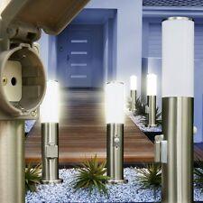 Edelstahl Außenstehleuchte mit Steckdose Bewegungsmelder Wegeleuchte Gartenlampe