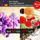 Tissue Paper Pompoms Birthday Christmas Xmas Pom Poms Party Living Decorations