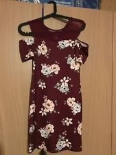 used girls dress size 12 years short new look flowery