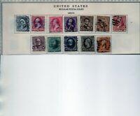 us scott #219-229 full set (12) stamps vf used 1890-93