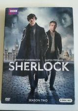 Sherlock SEASON 2 Complete (DVD, 2012, 2-Disc Set)-BBC modern-Holmes, Watson