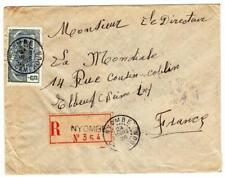 French Cameroun Sc#133,#140a(x2-reverse)- Nyombe 24/Mars/25-Registered(lab el)