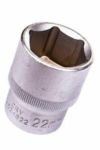 "524622 22mm 1/2"" Dr Short Metric Socket 6 Point (6PT) Heavy Duty 38mm Length"