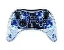 PDP Afterglow Pro Wireless Controller For Nintendo Wii U Clear LED - Brand New
