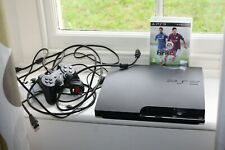 Playstation 3 Slim 160gb 2 Controller Fifa 15 alle Kabel ps3 sehr guter Zustand voll funktionsfähig