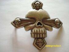 Famous Hot Star Skull Cross Pewter Belt Buckle