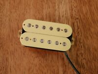 HUMBUCKER NECK PICKUP CREAM ALNICO 5 MAGNETS VINTAGE OUTPUT FOUR CONDUCTOR WIRED