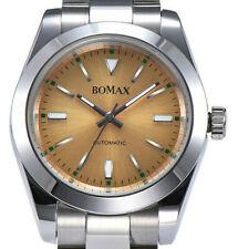 BOMAX by PARNIS 9104 Milgaus Stahl-Automatikuhr 40mm Armbanduhr Saphirglas 5BAR