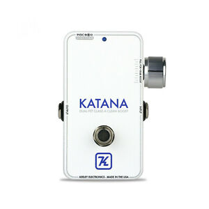 KEELEY KATANA THROWBACK WHITE LIMITED EDITION GUITAR BOOST PEDAL