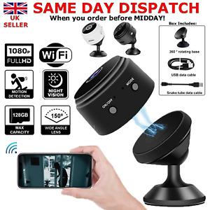 Wireless WiFi CCTV Indoor Outdoor 1080P HD MINI Spy IP Camera Home Security UK