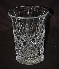 Genuine 24% Lead Crystal Flared Vase by DePlomb Crystal Pineapple Diamond Design
