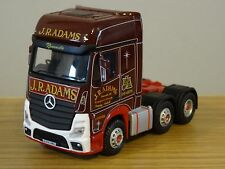 OXFORD DIECAST J.R. ADAMS MERCEDES ACTROS GSC MP4 TRUCK CAB MODEL 76MB003 1:76