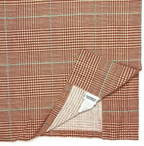 Waverly Luxury Red Tan Blue Window Treatment Valance Curtain Houndstooth Plaid