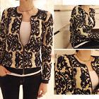 Vintage Women Pattern Knitted Sweater Batwing Sleeve Tops Cardigan Outwear Coat