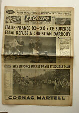Journal l'Equipe n°6231 - 1966 - Rugby Italie France - Christian Darrouy - Vélo