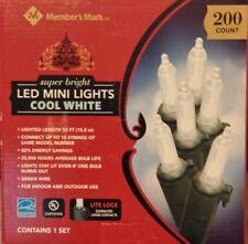 Member's Mark Super Bright Cool White LED Mini Lights 200 Count