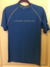 Under Armour Catalyst Blue Fitted Shirt Size S