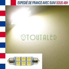 AMPOULE LAMPE NAVETTE C10W 42MM 12V 6 LED 5050 BLANC CHAUD CAMPING CAR BATEAU