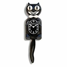 NIB! Clock Kit-Cat Black Kat Quartz Classic Moving Eyes & Tail Wall Klock Decor