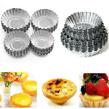 10 ~ 30Pcs huevo Tarta De Aluminio Forrado Magdalena Pastel Galletas Molde Molde Herramienta de Repostería Molde Estaño