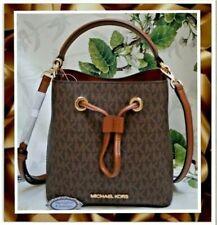 Michael Kors Small Suri Logo Bucket Bag Brown 35t0gu2c0b