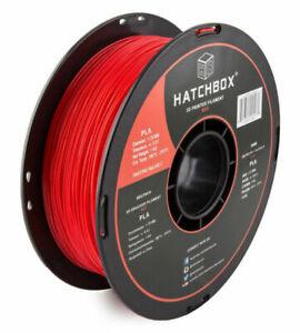 HATCHBOX 3D PLA-1KG1.75-RED Printer Filament - Red