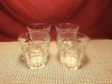 Duralex Crystal Picardie Pattern Set of 4 Double Old Fashioned Glasses 3 5/8""