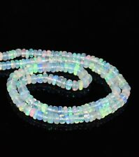 "3-5 MM Natural Ethiopian Welo Fire Opal Rondelle Beads 3"" 1 Strand Opal AA15"