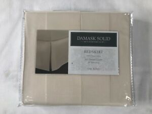 NIP Charter Club Damask Solid Cal King Bedskirt 500 Thread Count 100% Pima Cotto