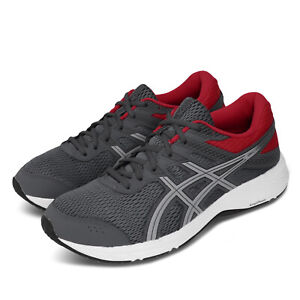 Asics Gel-Contend 6 4E Extra Wide Grey Red Men Running Shoe Sneaker 1011A666-021