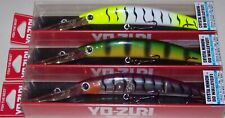"3 Yo-Zuri Crystal Minnow Deep Diver DD Walleye, 5-1/4"", 3 Colors Dives to 13' #3"