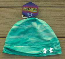 "NWT UNDER ARMOUR ColdGear Infrared ""Cozy"" Reflective Womens Beanie Hat-OSFM AQUA"
