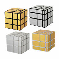 Shengshou 3 X 3 Irregular Mirror Magic Cube Gold/Silver Twist Puzzle ABS Smooth