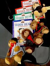 More details for the teddy bear collection of 4 bears with magazines alphonse peter gordon louis